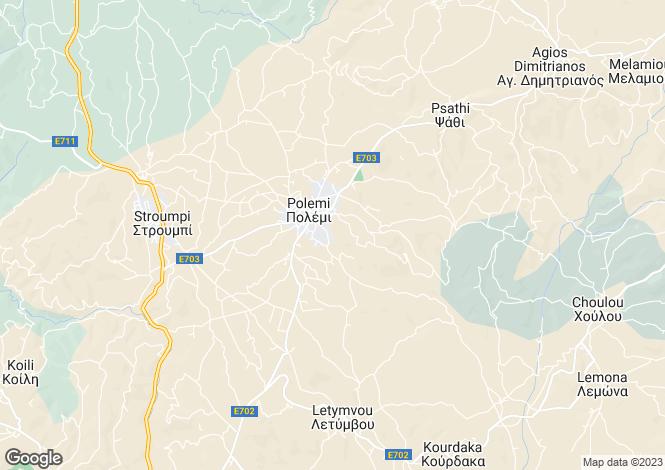 Map for Polemi, Paphos