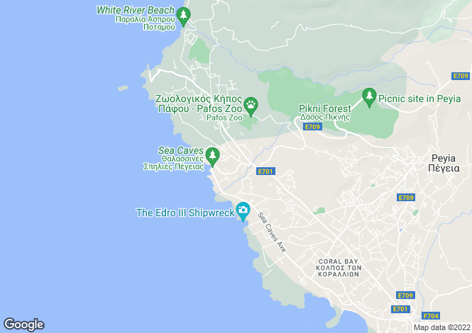 Map for Peyia, Paphos