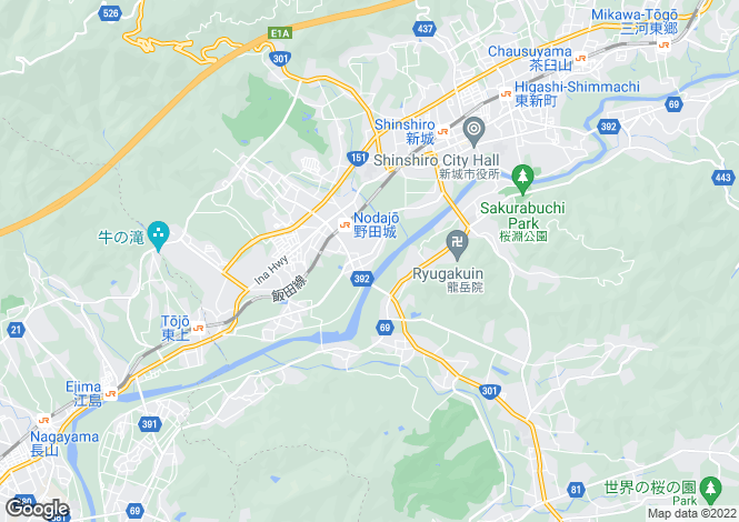 Map for Chiba, Noda