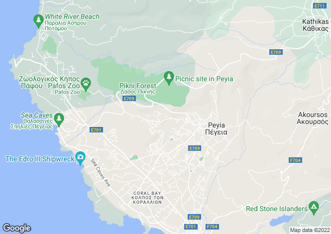 Map for Cyprus - Paphos, Peyia