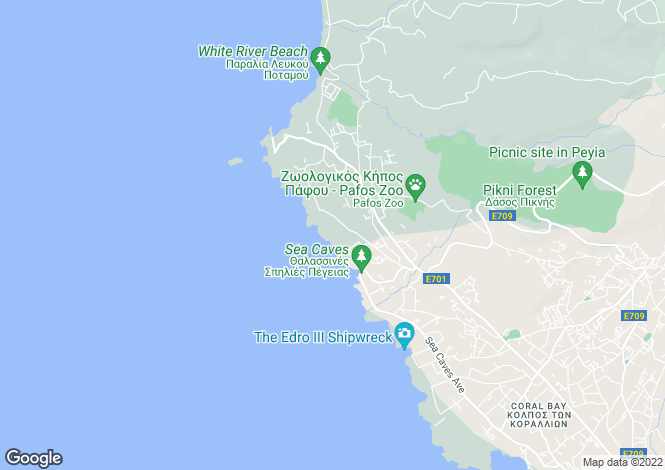 Map for Cyprus - Paphos, Sea Caves