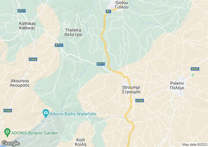Map for Paphos, Stroumpi