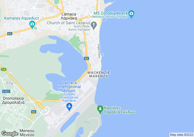 Map for Larnaca, Mckenzie