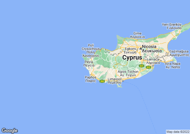 Map for Cyprus - Paphos, Paphos Town