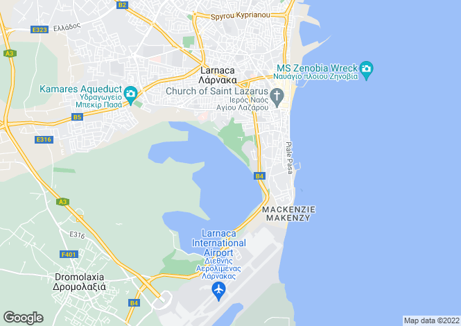 Map for Larnaca