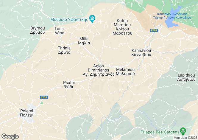 Map for Agios Dimitrianos, Paphos