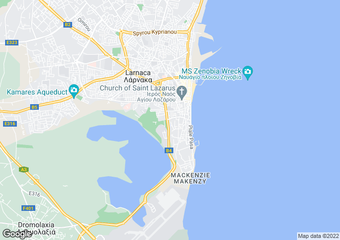 Map for Cyprus - Larnaca, Faneromeni