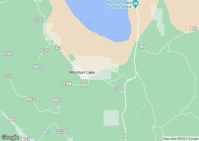 Map for Arizona, Coconino County, Mormon Lake