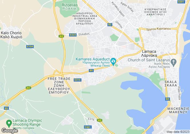 Map for Larnaca, Krasa