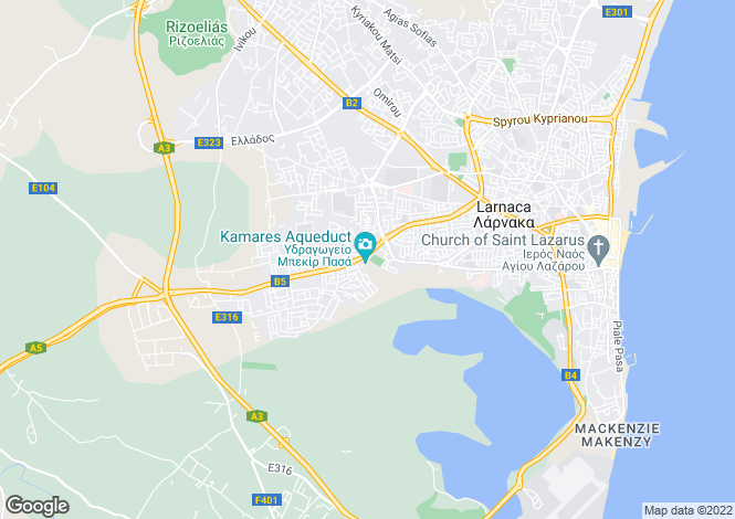 Map for Larnaca, Kamares