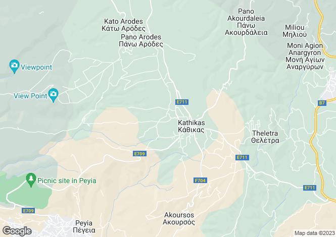 Map for Kathikas, Paphos