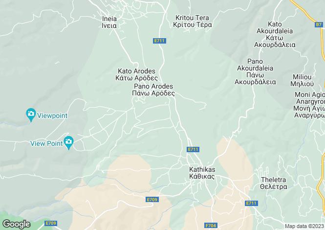 Map for Paphos, Kathikas