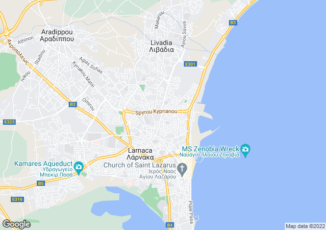 Map for Larnaca, Sotiros