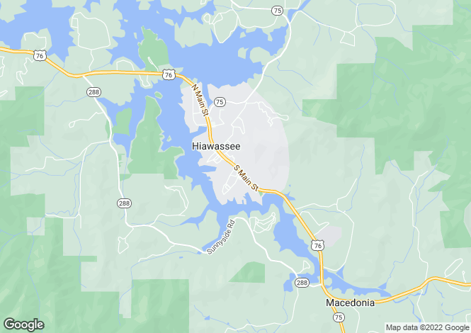 Map for USA - Georgia, Towns County, Hiawassee