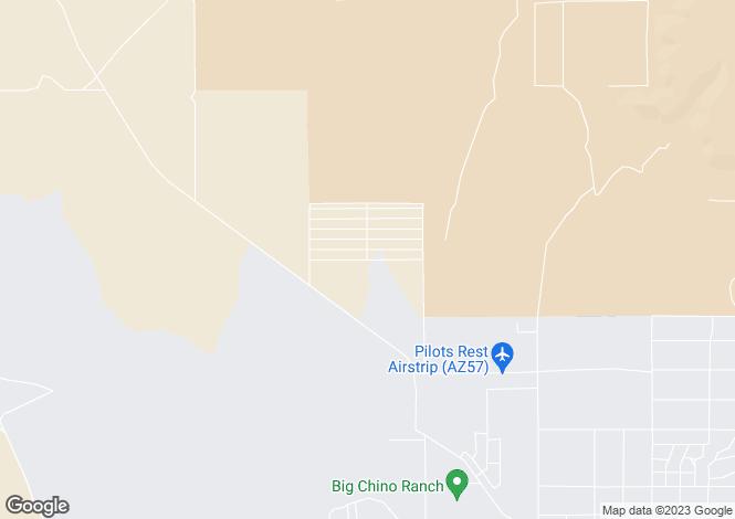 Map for Arizona, Yavapai County, Paulden