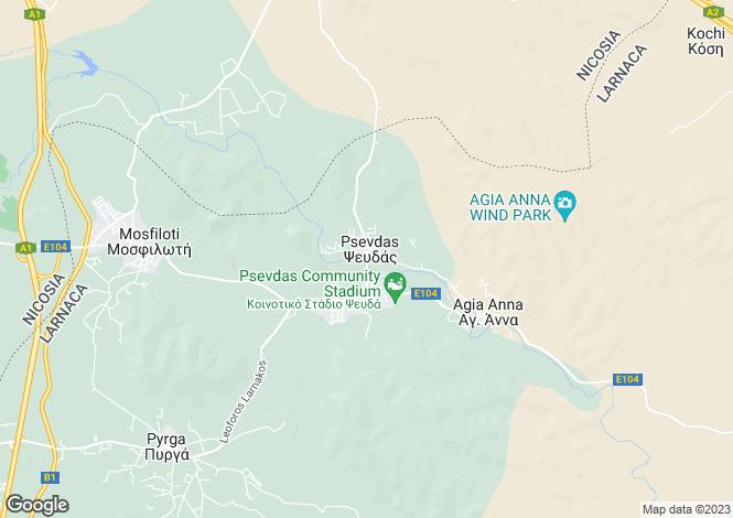 Map for Psevdas, Larnaca