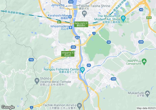 Map for Shiga
