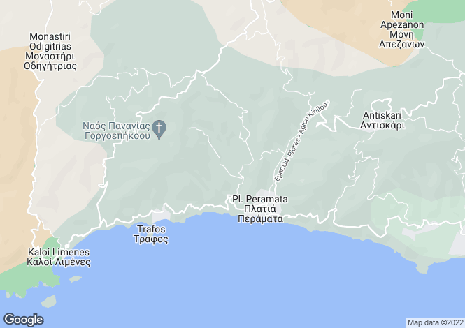 Map for Mires, South Crete, Greece