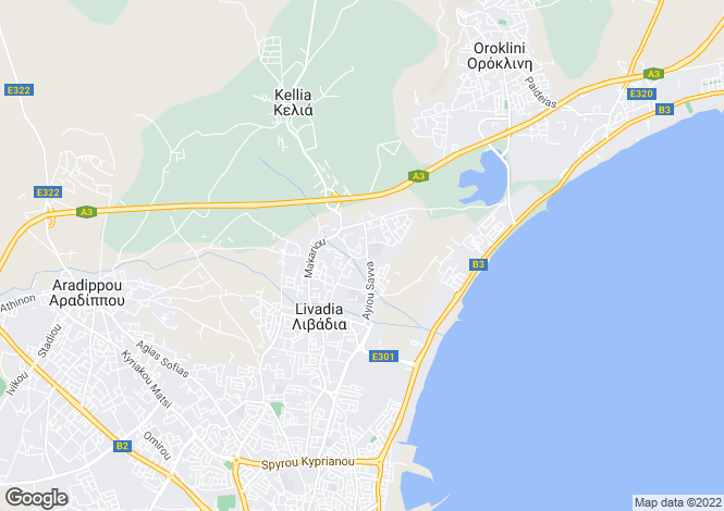 Map for Livadia, Larnaca, Cyprus