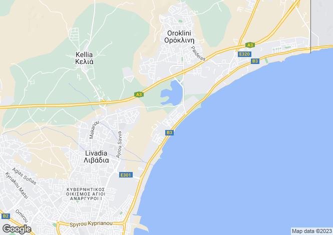 Map for Larnaca Town, Larnaca, Larnaca