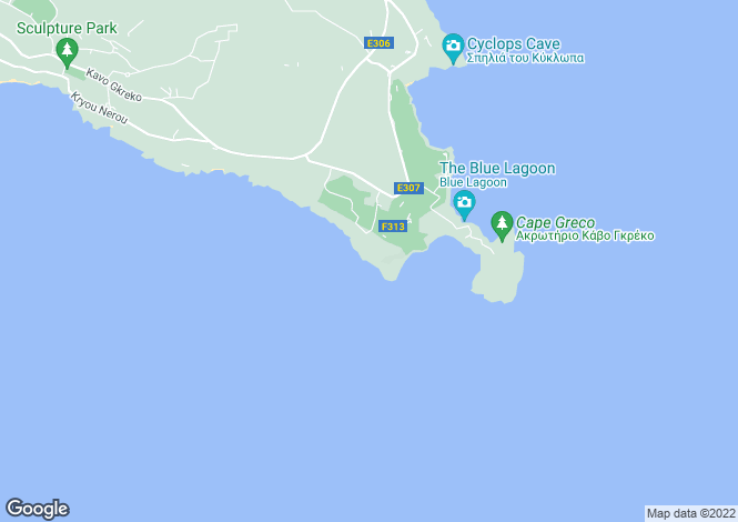 Map for Cape Greco
