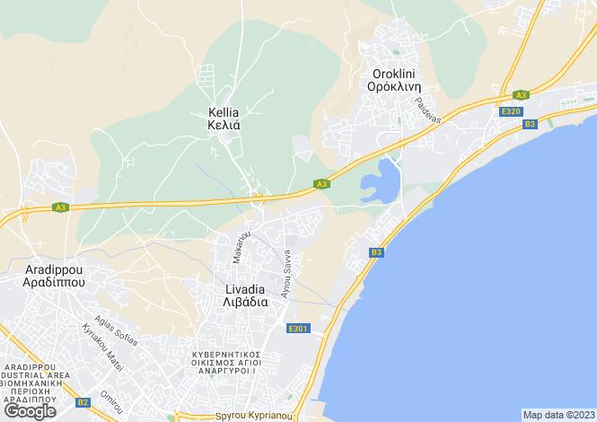 Map for Livadia, Larnaca