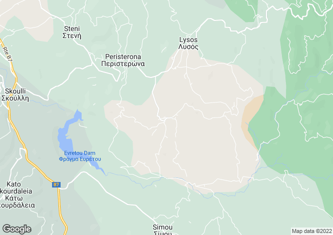 Map for Paphos, Filousa Chrysochous