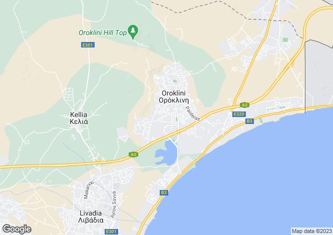 Map for Oroklini, Larnaca