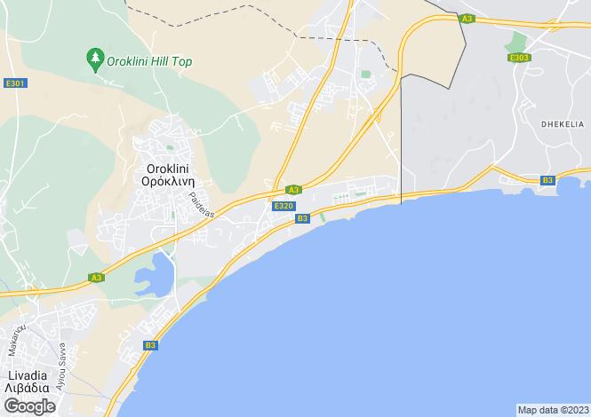 Map for Larnaca, Dekelia
