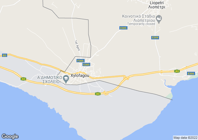 Map for Xylophaghou, Famagusta