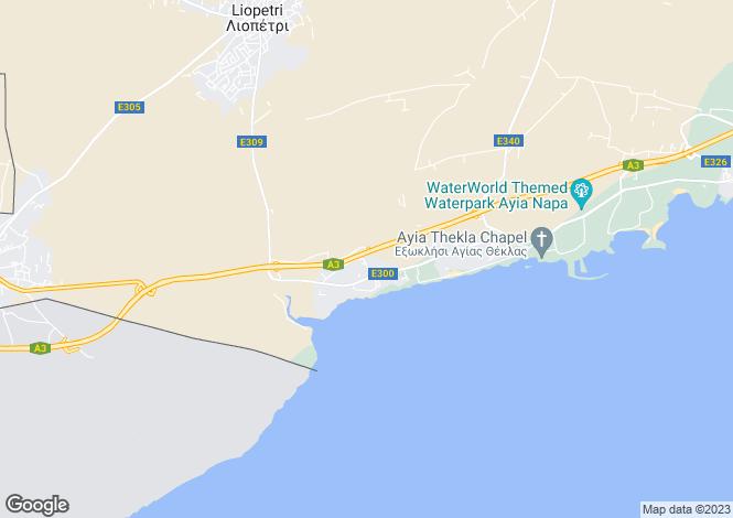 Map for Ayia Thekla