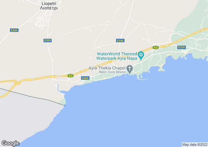 Map for Famagusta, Agia Thekla