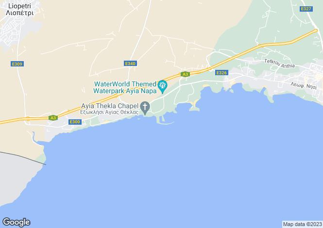 Map for Ayia Napa Marina, Ayia Napa, Cyprus