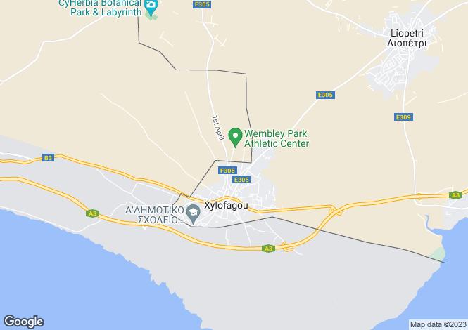 Map for Famagusta, Xylophagou
