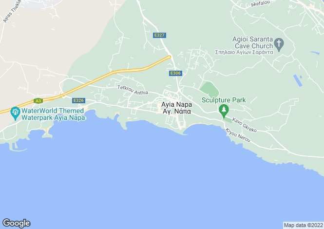 Map for Cyprus - Famagusta, Ayia Napa