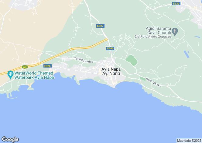 Map for Ayia Napa, Famagusta