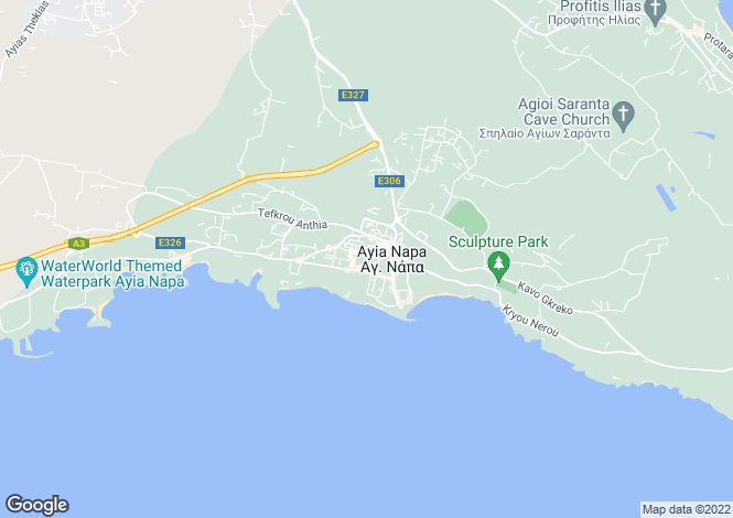 Map for Famagusta, Ayia Napa