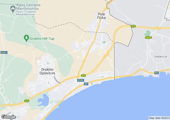 Map for Larnaca, Pylas