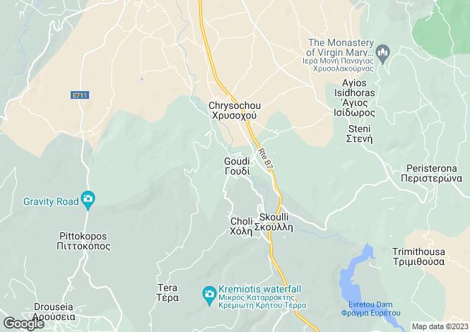 Map for Goudi, Paphos