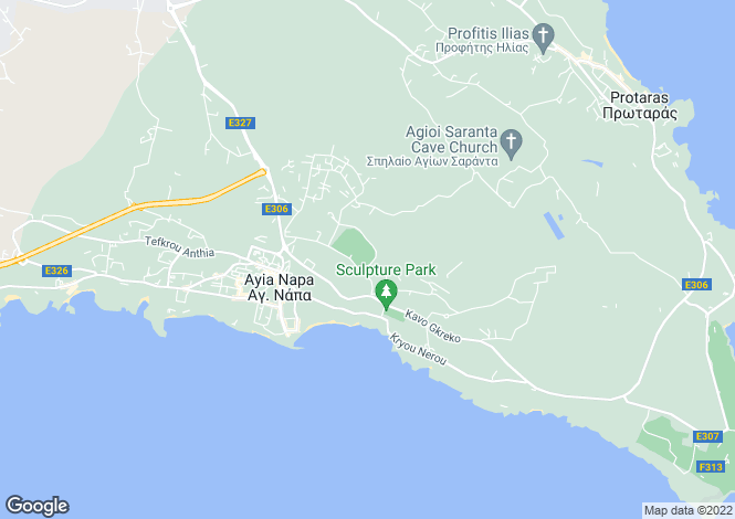 Map for Ayia Napa