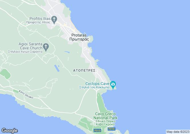 Map for Famagusta, Cape Greko