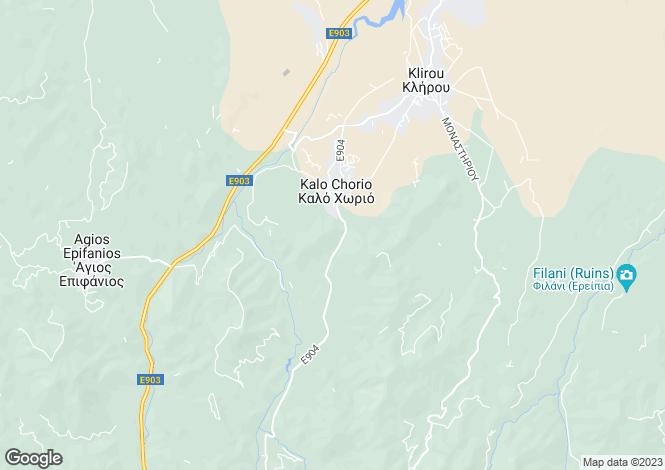 Map for Klirou, Nicosia