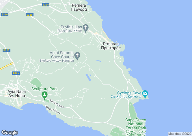 Map for Protaras