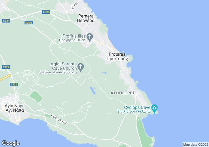 Map for Protaras, Famagusta