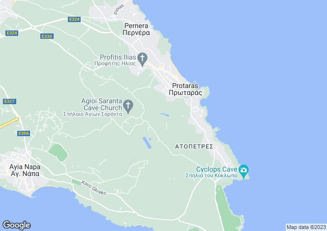 Map for Famagusta, Protaras