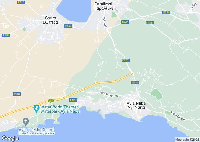 Map for Famagusta, Agia Triada