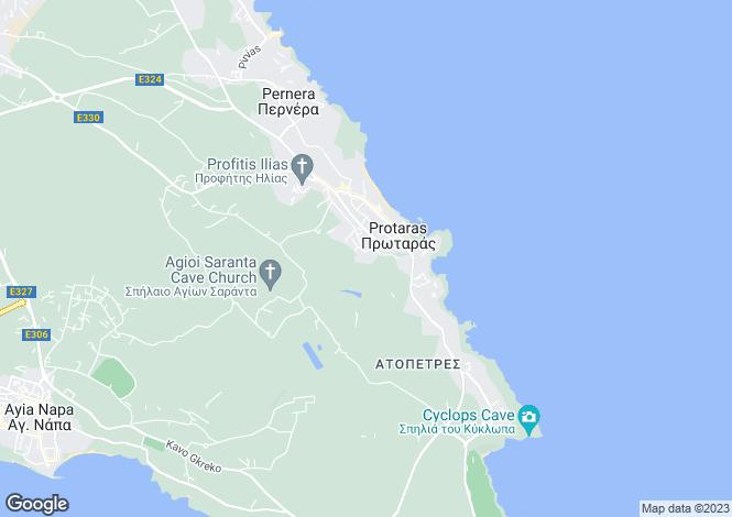 Map for Protaras, Cyprus