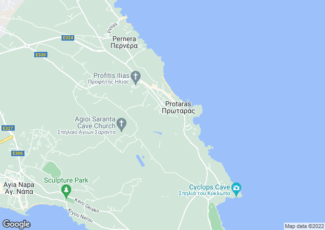 Map for Protaras Centre, Famagusta, Cyprus