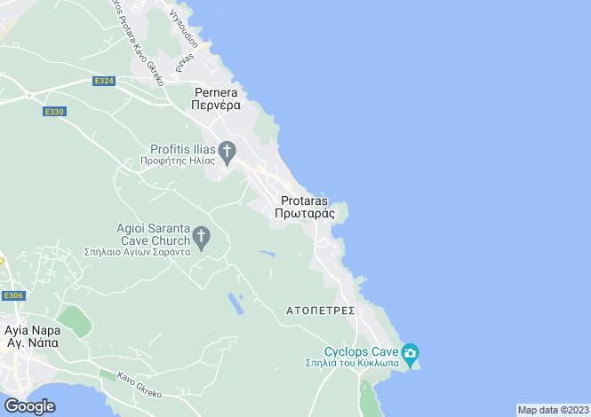 Map for Famagusta, Vrysoulles