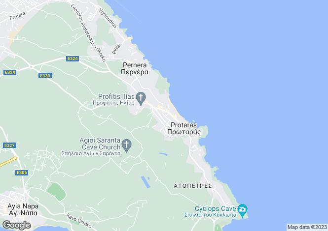 Map for Protaras Centre, Protaras, Cyprus